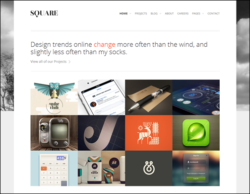 Square- Responsive WordPress Theme