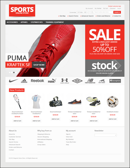 SPORTS Online Store