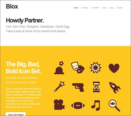 blox photography website theme