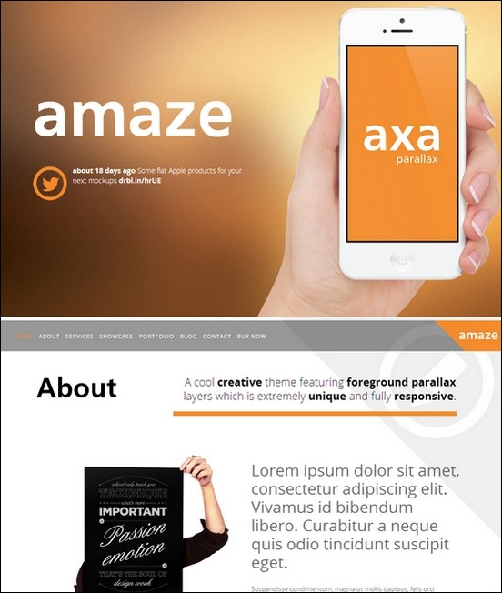 amaze-wordpress-interactive-parallax-theme