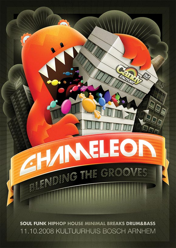 Chameleon Candy Factory Flyer