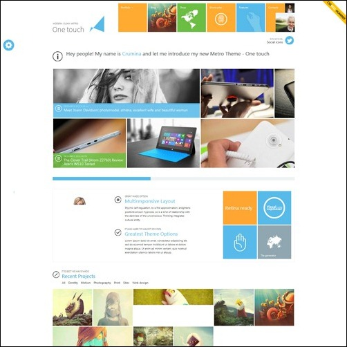 one touch WordPress Business Themes
