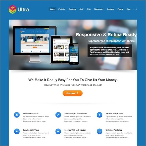 ultra wordpress business theme