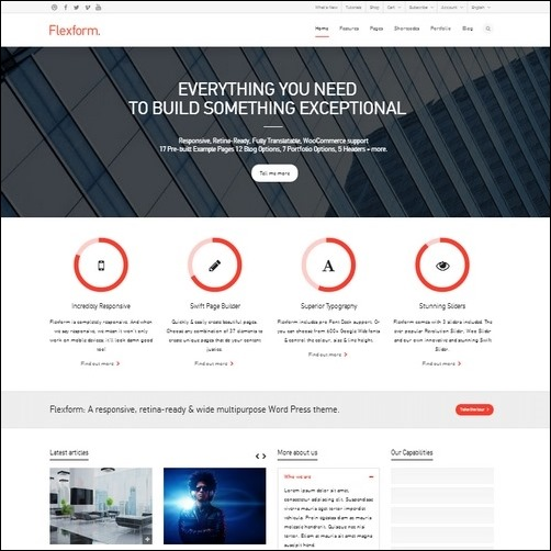 flexform wp theme