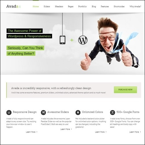 Avada wordpress business theme