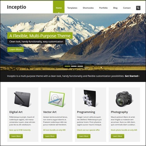 Inceptio business website template