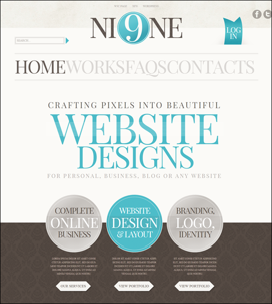 Wordpress Theme #35461