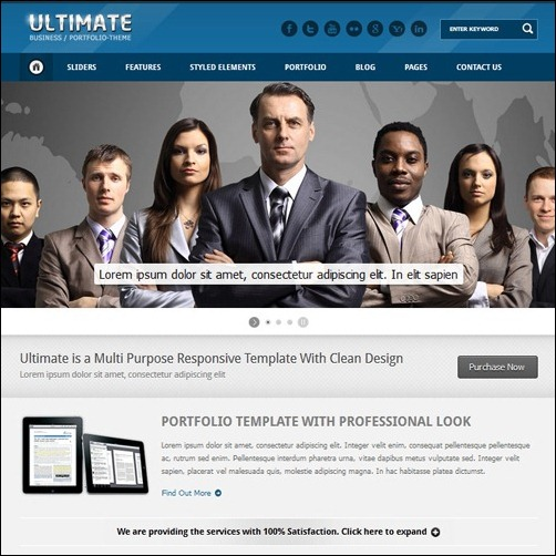 Ultimate  business website template