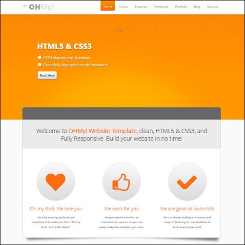 OHMY Business Website Template