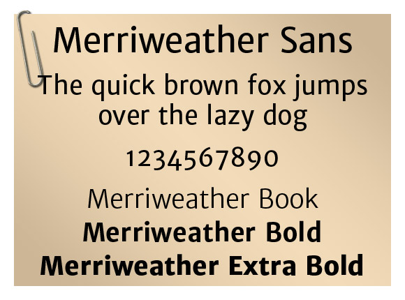 Merriweather Sans