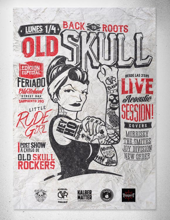 Old Skull. Little Rude Girl Flyer