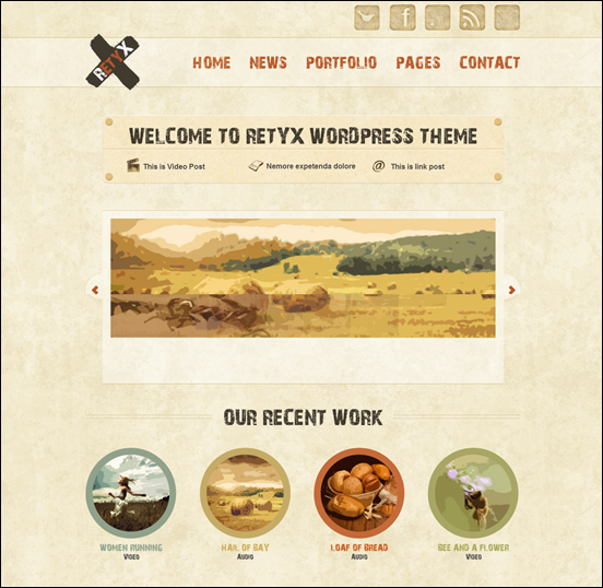 RetyX - Vintage-Retro Blog WordPress Theme
