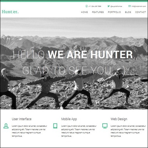 Hunter WordPress Business Themes