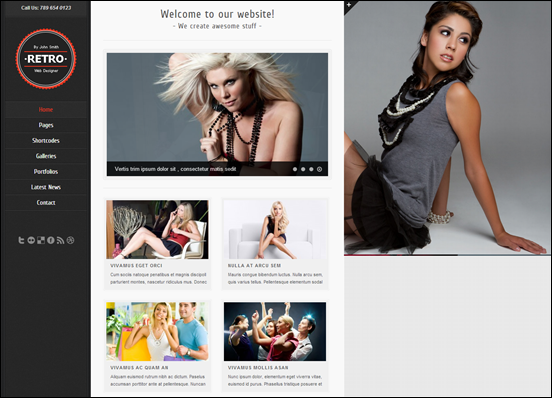 Retro - Premium WordPress Template
