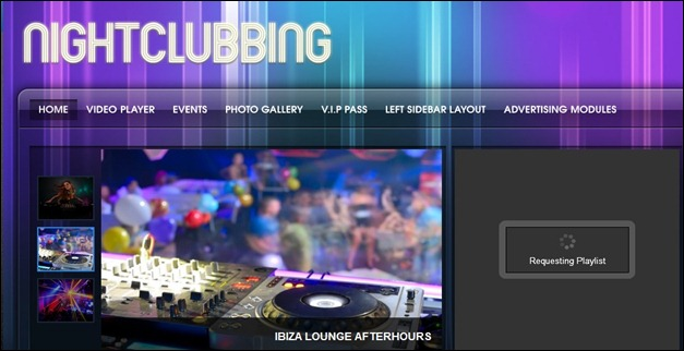 NightClubbing WordPress Music Theme
