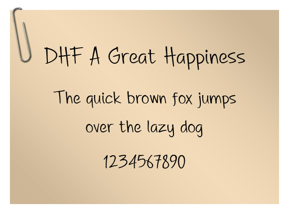 DHF A Great Happiness