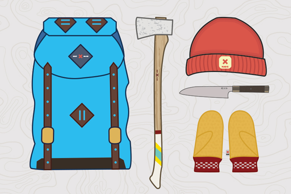 best made gear illustration axe backpack