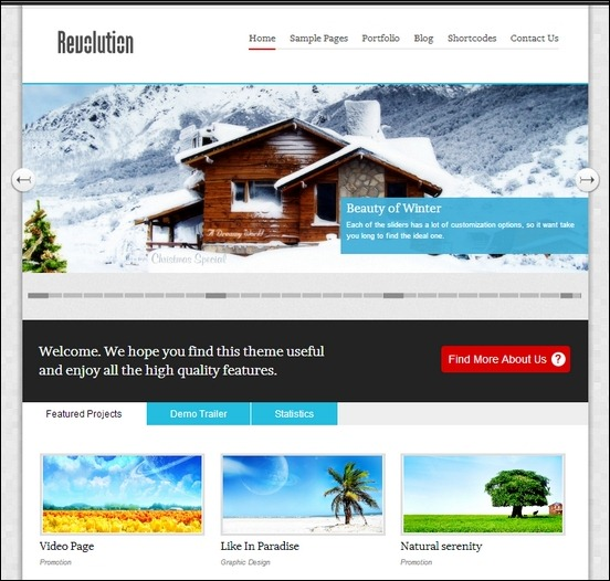 revolution is a clean modern designed theme for wordpress