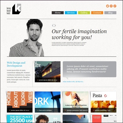 web design studio Joomla 3.0 Template