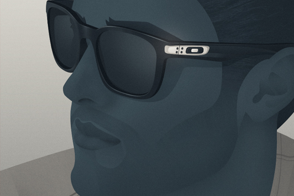 dark illustration model oakley glasses