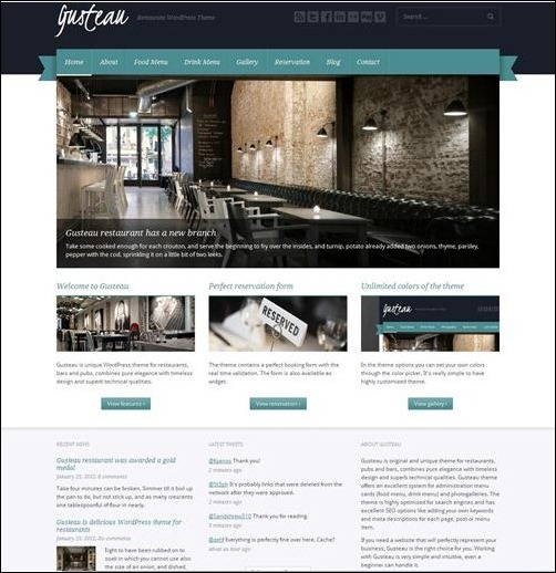 gusteau restaurant menu template