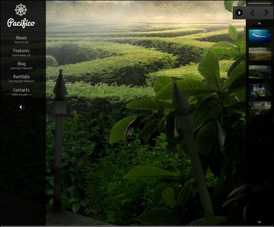 pacifico is a fullscreen background theme for wordpress