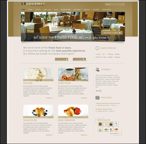 legourmet restaurant menu templates