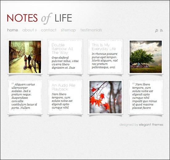 dailynotes is a simple wordpress theme used to create personal blog