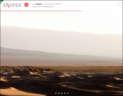 Sniper Premium Photography Theme