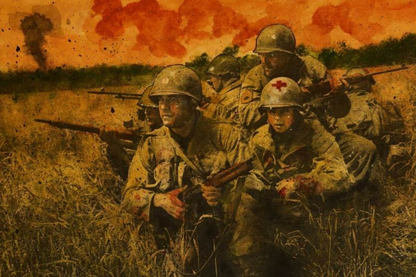 saving private ryan movie illustration