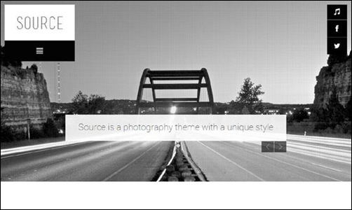 Source is a responsive theme perfect for photographers that want to present their images with style online. It is responsive and therefore fully compatible with mobile devices