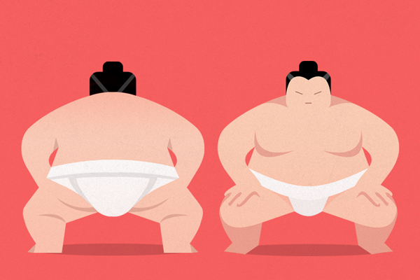 japanese sumo illustration graphics men