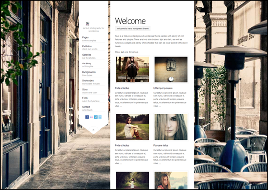 Nevo – Premium Fullscreen Photography WP Theme