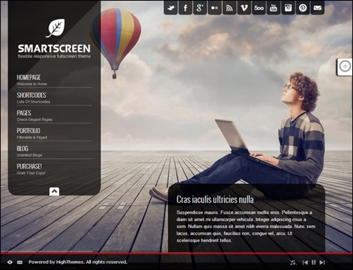 Smartscreen Fullscreen Responsive WordPress Theme