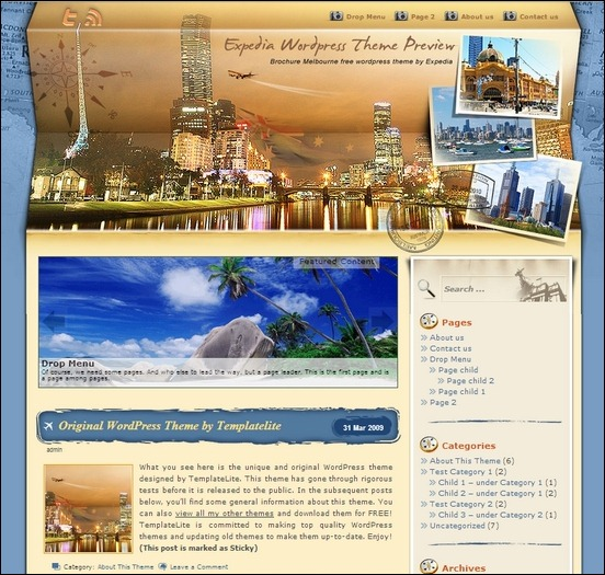 brochure melbourne is one of the beautiful wordpress travel theme