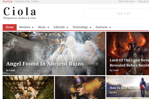 premium ciola wordpress magazine theme