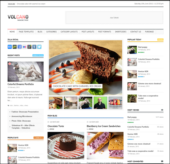 Volcano - Responsive WordPress Magazine Theme