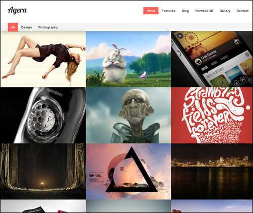 Agera Responsive Fullscreen Photo WP Theme