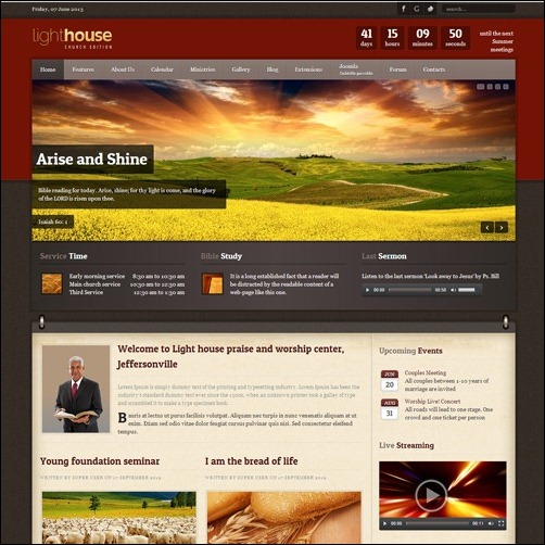light house Joomla 3.0 Template