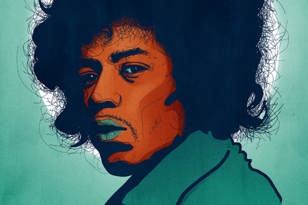 musician guitarist jimi hendrix illustration