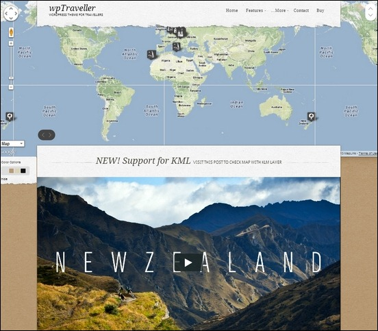 wpTraveller is a responsive travel theme for wordpress