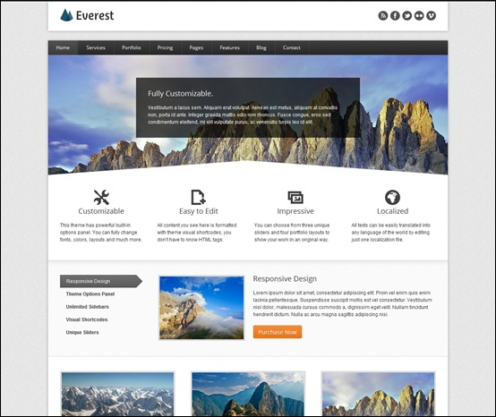everest is a clean modern theme for wordpress