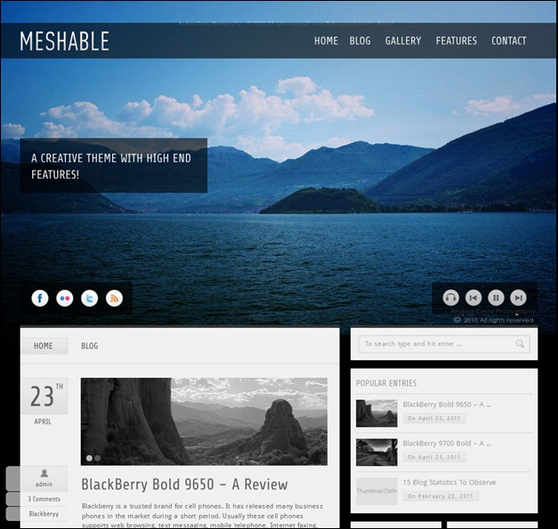 Meshable – Personal Fullscreen Theme
