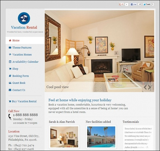 vacation rental is a clean responsive travel theme used to showcase vacation homes using beautiful galleries