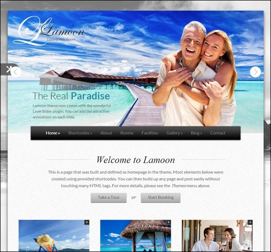 Lamoon is a responsive WordPress theme perfect for hotels and businesses