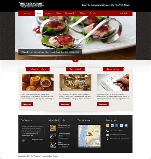 the-restaurant restaurant menu template