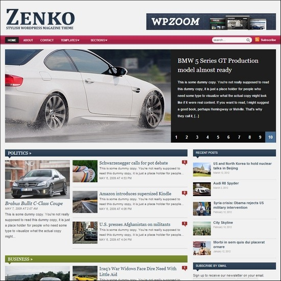 Zenko Magazine WordPress theme is a unique WordPress theme for new websites
