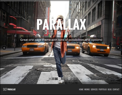 907 Responsive WP One Page Parallax