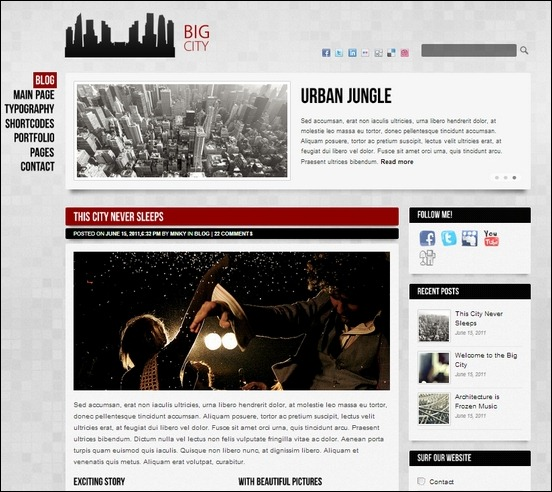 big city is one of the beautiful wordpress theme