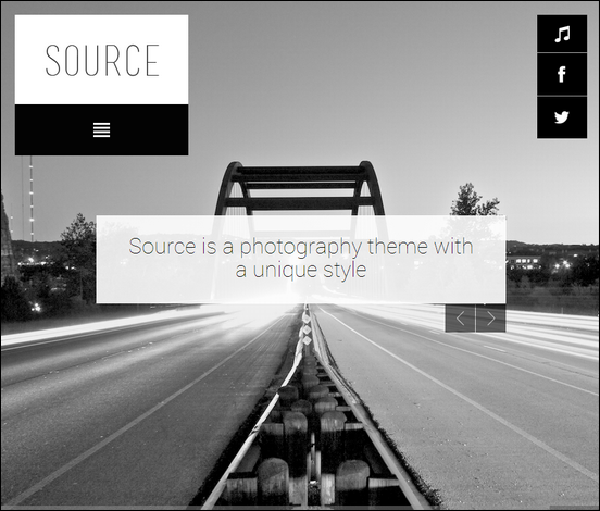 source is a unique responsive wordpress theme